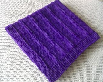 Baby Blanket* - Handknit Baby Blanket - Purple Blanket - Handmade Blanket