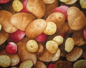 Potatoe Red Potatoes Spuds Cottton Fabric Fat Quarter or Custom Listing