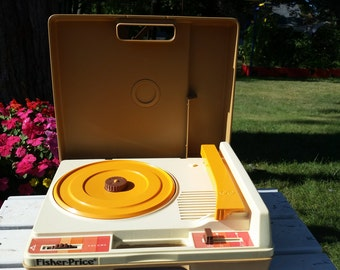 Vintage Fisher Price Portable Record Player