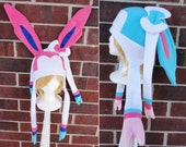 Sylveon and Shiny Sylveon Pokemon Hat - Adult-Teen-Kid - A winter, nerdy, geekery gift!