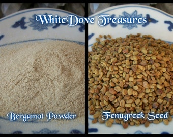 FENUGREEK SEED - BERGAMOT Powder Medicine & Magic Prosperity Organic Tea Choice 1oz Hearth Health Culinary Cooking Altar Incense Natural Dye