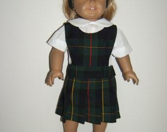 18 inch Doll School Uniform Jumper plaid 83 or Belair plaid