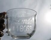 1 # BOSS personalized coffee mug