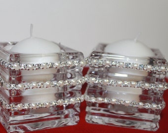 Votive holders for Wedding Head table or Cake table