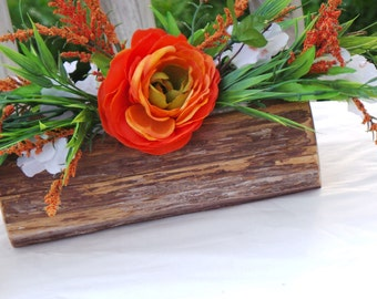 Reception Ideas, Rustic Bridal Shower Decor, Log Vase Centerpiece