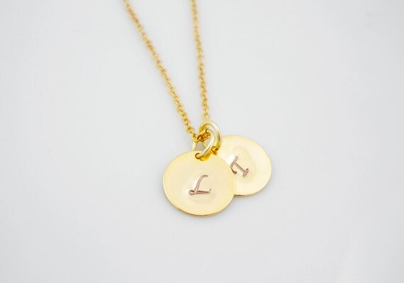 gold initial discs necklace liz lemon s necklace from by
