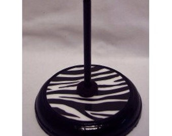 Black Zebra Themed Piccolo Stand