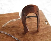 Horse Shoe Ring Hand Made Copper and Sterling Silver