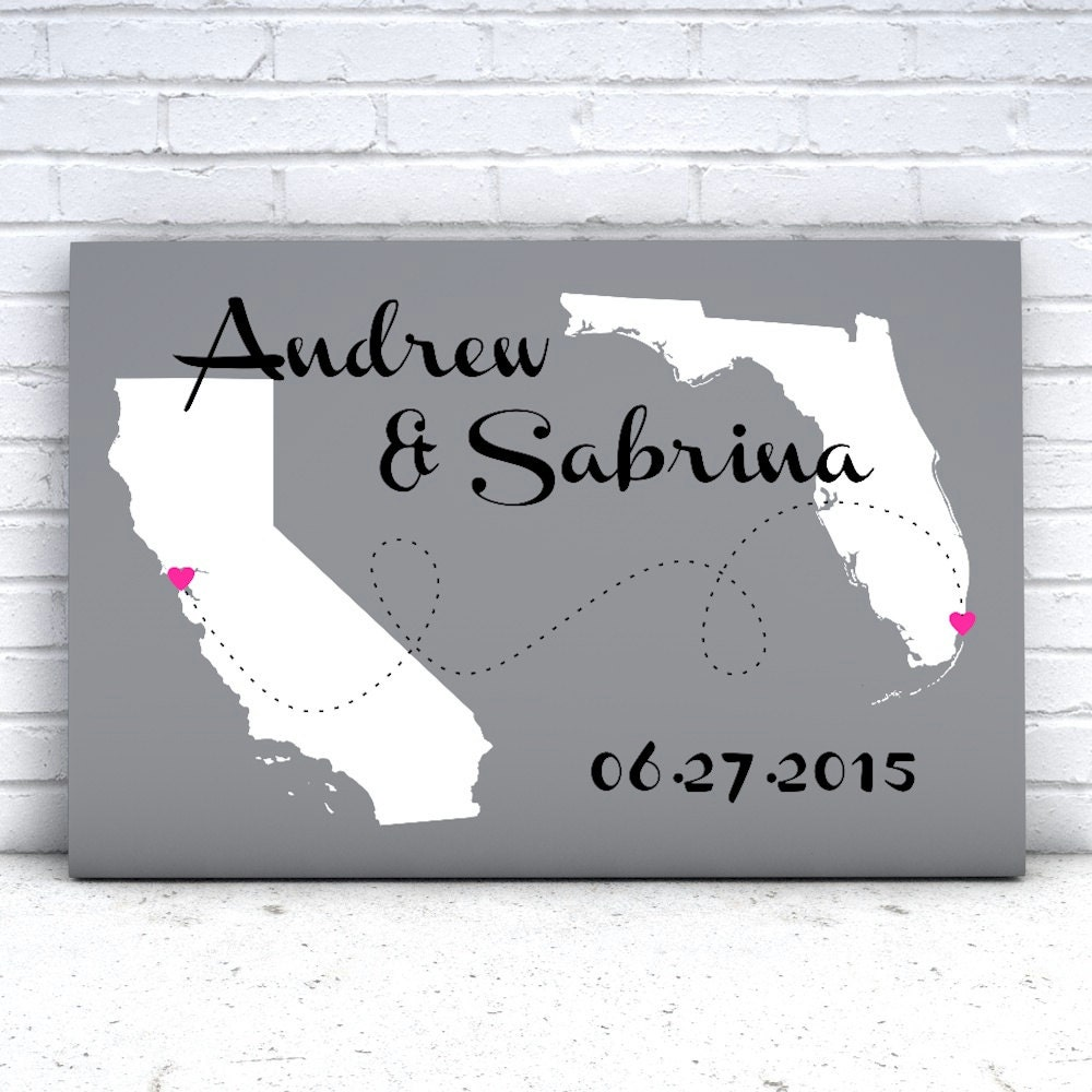 Personalized Wedding Canvas: Wedding Gifts Personalized Wedding Canvas Gift Unique Wedding