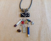 Domino Charm Industrial Chic Necklace aka Teacher's Pet Necklace