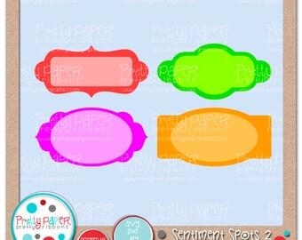 Sentiment Spots 2 Cutting Files & Clip Art - Instant Download