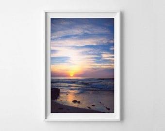 Beach Decor San Diego Windansea Sunset - Vertical Wall Art - California Coast Pacific Ocean Decor - Small and Large Art Prints Available