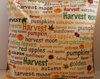 12x12 Wordy Fall Decorative Pillow