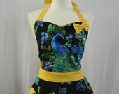 Peacocks Full Apron With Ribbon for Siobhan Ford.