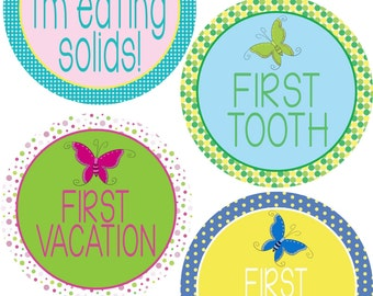 ADD ON My First Stickers for Baby, My First Stickers  - Butterfly Girl-  Baby My First Stickers -Baby Shower Gift - Baby