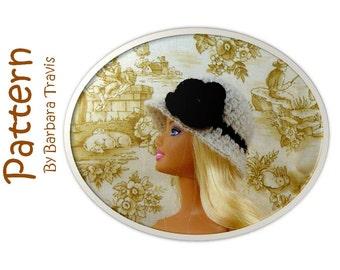 Crochet Pattern Classic Cloche for Barbie Flapper 1920s Roaring Twenties