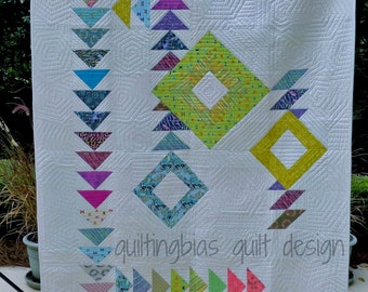 Modern Geese Quilt Pattern by Quilting Bias Quilt designs - Printed Version