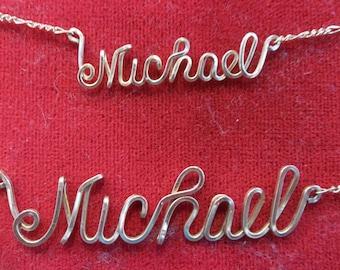 Custom Name/Word Necklace Medium Size