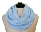 Blue Infinity Scarf Winter Ice Silver Sparkle Cowl Frozen Water Sparkly