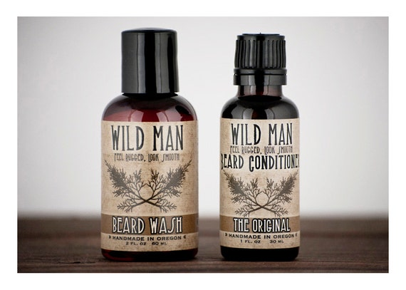 mens grooming kit beard care gift set two pack by wildroseherbs. Black Bedroom Furniture Sets. Home Design Ideas