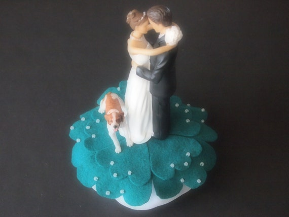 teal wedding cake toppers cake topper wedding teal green and groom 20789
