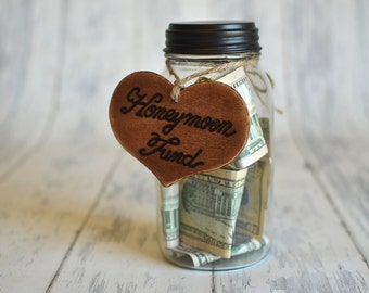 "Rustic Wedding ""Honeymoon Fund"" Sign  for Your Rustic, Country, Shabby Chic Wedding,  Bridal Shower, or Bachelor/Bachelorette Party"