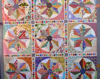Scrappy Windmills quilt pattern