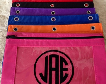 Pencil Bag, Personalized Pencil Pouch, Monogrammed Pencil Pouch, Pencil Case, Pencil Holder, School Organizer, Back to School Bag