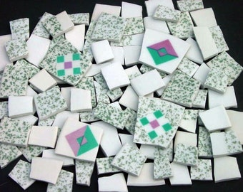 FREE SHIPPING 98 Simple Sweet Mosaic Tiles Handmade Dinnerware Plates Dishes Mosaics