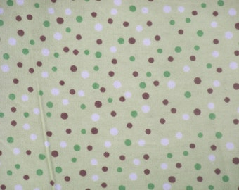 Green with Dots! Flannel by the yard