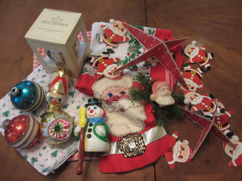 Vintage lot s christmas decorations by memphisnanney