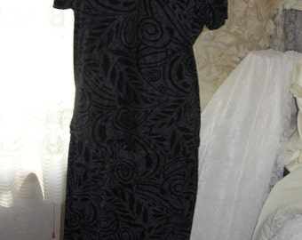 Vintage two piece black and grey maxi skirt and top