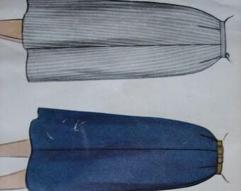 Vintage McCall's Pattern 9875 Misses' Skirt   1954