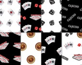 Casino Theme Paper - Black & White 2 - casino paper, printable casino paper, digital casino paper, casino scrapbook paper, casino night