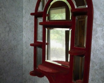 Red Velvet Curio Shelf