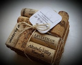 Set of Four Wine Cork Coasters