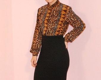 Leopard Blouse/ Jungle/ Small