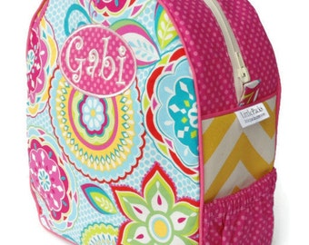 Personalized Toddler Backpack Girls Preschool Quilted Chevron