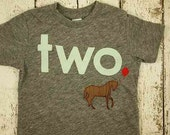 Horse tee girls boys shirt Birthday Shirt Organic Blend Birthday Tee Horses cowboy ranch horse back riding