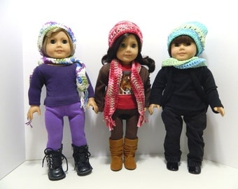 Crocheted Slouchy Hat and Scarf for American Girl Dolls