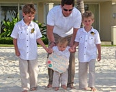 Ring Bearer clothes, Child Drawstring Linen Pants, Beach Wedding, Photos, Graduations...3m,6m,9m,12m,18m,2t,3t,4t,5yrs and up