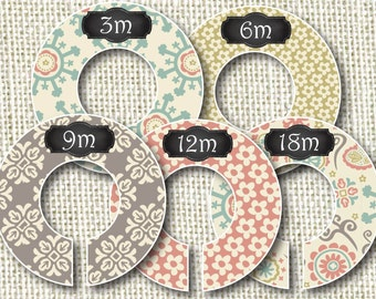 Baby Closet Dividers - Groovy Doodles 2