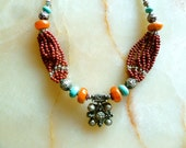 Reserved listing for Gesa -  Moroccan jewelry - berber style necklace - ethnic necklace - moroccan art