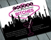 Cheers Bitches VEGAS BACHELORETTE Party Invitation Digital printable file/Printing Available Upon Request