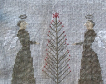 Christmastide Hanging Huswif Cross Stitch Notions holder