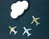 Map Airplane Die Cuts, Airplane Birthday Party, Table Decor, Baby Shower, Airplane Confetti, Set of 40