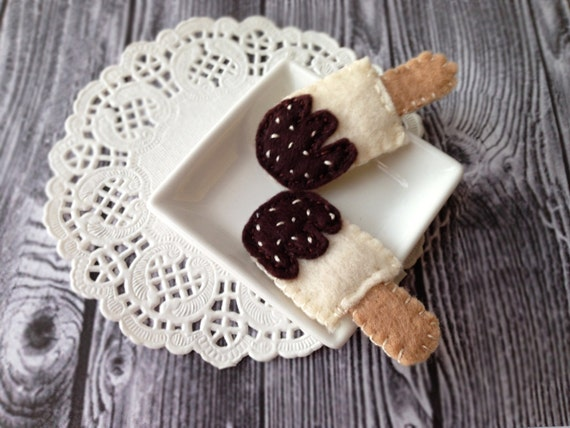 Ice Cream Hair Clips Felt Food Hair Pin Felt Ice cream Snap Clips Cute Food Jewelry July Ice Cream Month