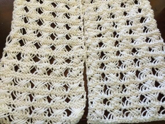 Cross Stitch Knitting Pattern Scarf : Cross Stitch Scarf Pattern - Knitting Pattern from SaraMarieCreations on Etsy...