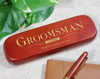 Personalized Groomsman Rosewood Pen Set -gfy728870