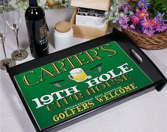 19th Hole Personalized Serving Tray -gfy42245ST